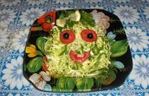 Простой рецепт салата из савойской капусты
