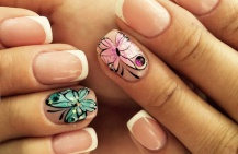 Маникюр с бабочками — идеи для разных образов