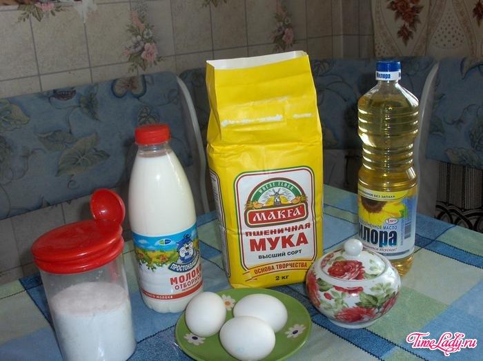 блины рецепт с фото на молоке