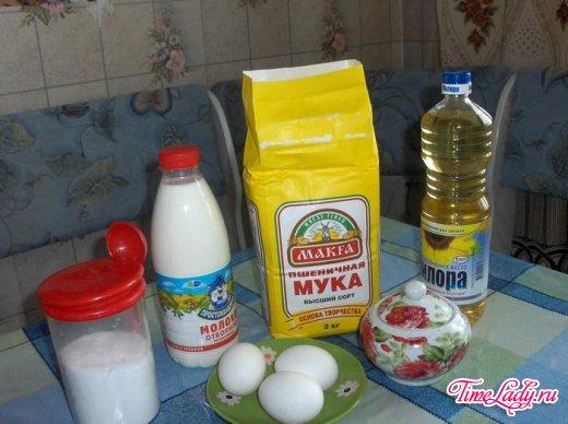 Рецепт блинов на молоке. Тонкие блинчики на молоке / Вкусные рецепты на TimeLady