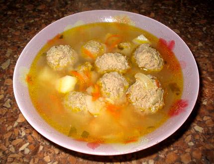суп с фрикадельками рецепт из фарша с фото