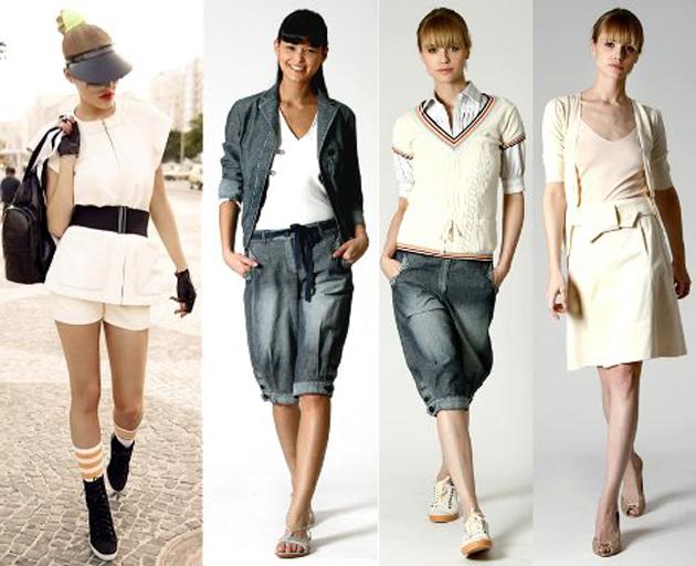 В спортивный стиль много одежды пришло из разных видов спорта. Шорты и... Такая одежда подходит людям разной