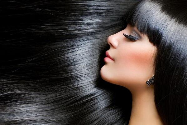 Красивые чёрные волосы