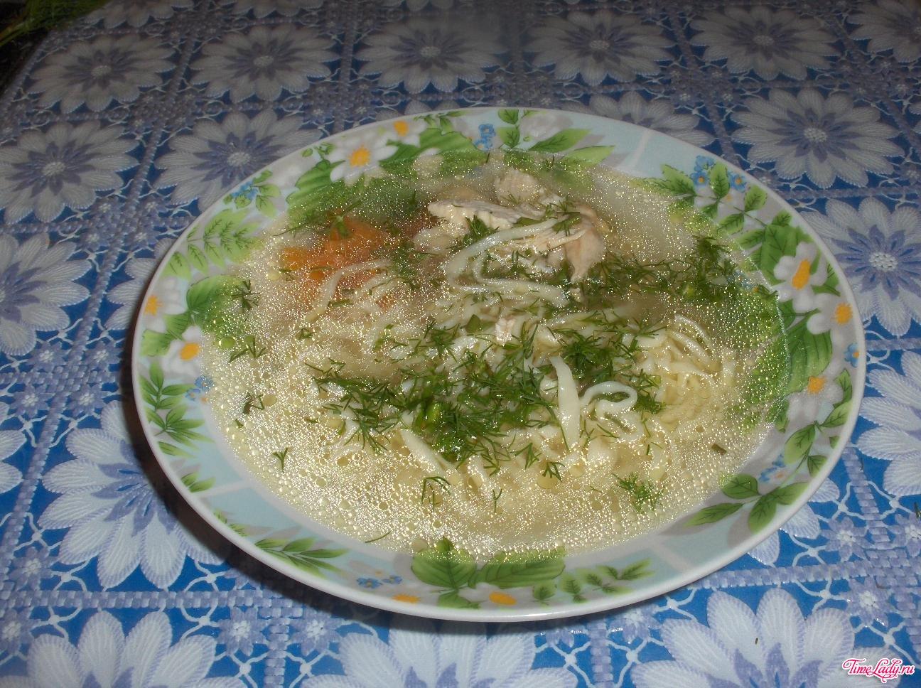 вкусный суп лапша: