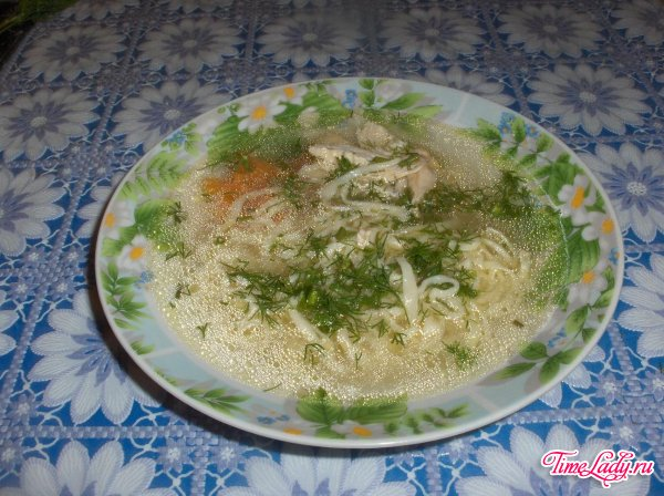 Суп лапша куриная домашняя рецепт