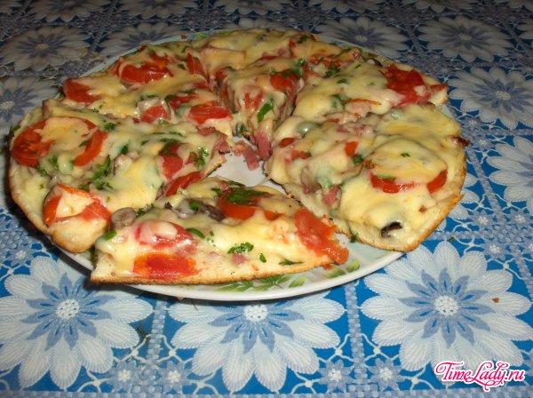 пицца в сковороде рецепт на кефире