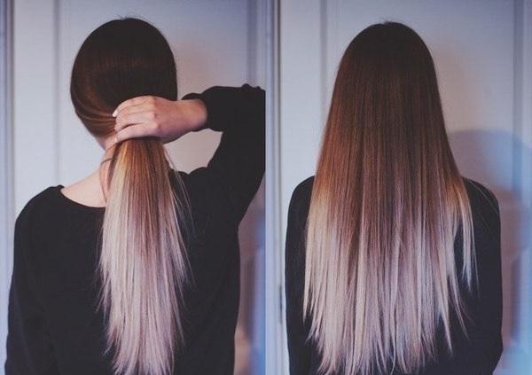 как сделать дома омбре на волосы