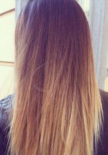 Плавный переход цвета волос в другой