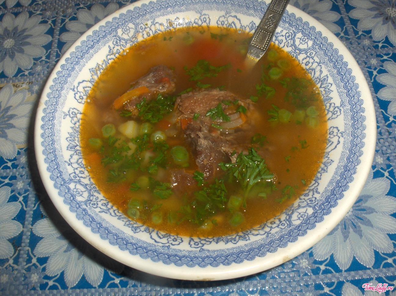 Суп из тушеной говядины рецепт