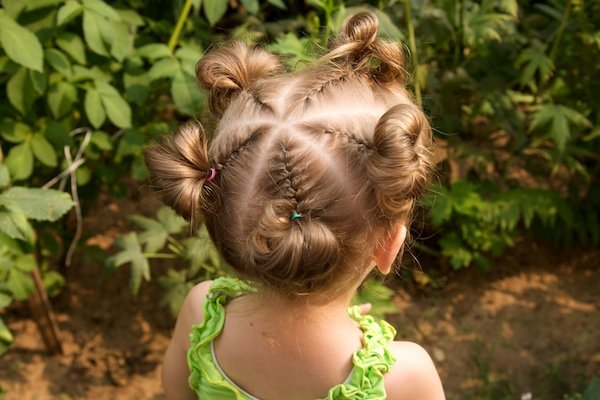 Причёски для маленьких девочек на короткие волосы фото