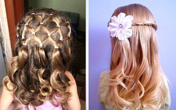 Прически для девочек в садик на жидкие волосы