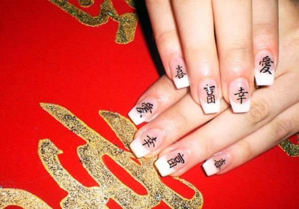 9 вариант украшения ногтей по фен-шуй