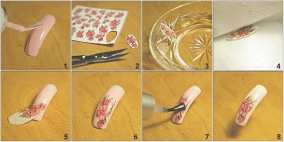 Как клеить на ногти рисунки