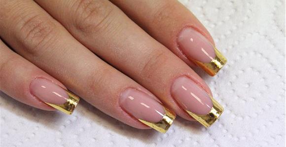 2 пример перевернутого френча для ногтей длинных