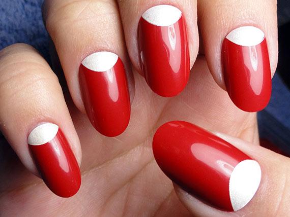 4 пример перевернутого френча для ногтей длинных