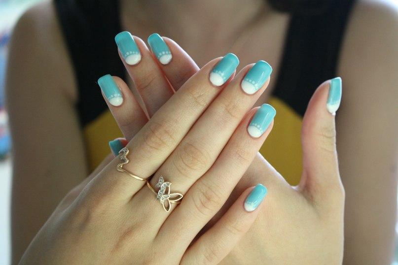 5 пример перевернутого френча для ногтей длинных