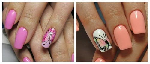 Зеркальные бабочки на ногтях
