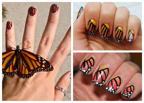 Маникюр крылышки бабочек