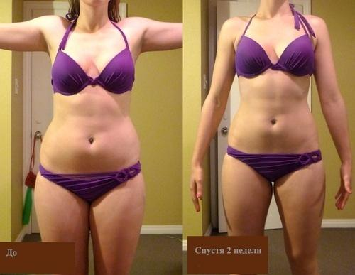 Питьевая диета - фото до и после