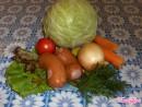 Тушёная капуста с колбасой